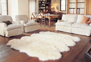 Thảm lông cừu giúp cho ngôi nhà sang trọng hơn