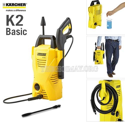 Máy rửa xe Karcher K2 Basic sở hữu nhiều ưu điểm về chất lượng, thiết kế