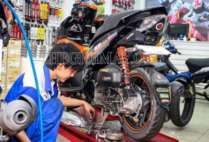 Sửa xe máy bị hụt hơi do nghẹt xăng
