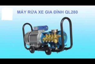 Máy rửa xe mini QL280 có thể tự hút nước và tự ngắt khi không sử dụng
