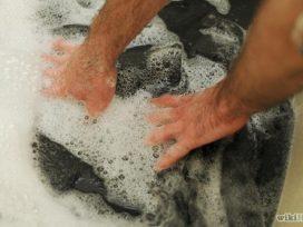 Giặt thảm len bằng phương pháp truyền thống dễ bị hư hại