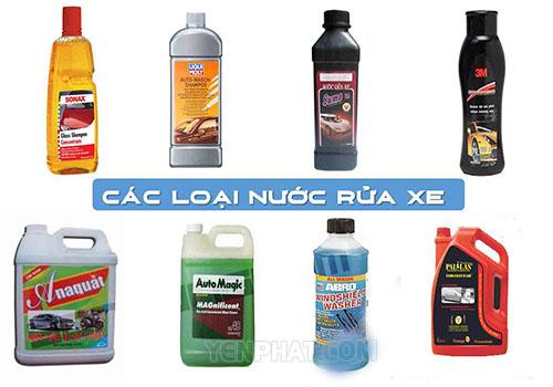 Một số loại dung dịch rửa xe chuyên dụng