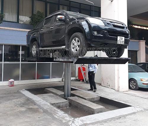 Thi công tiệm rửa xe của anh Tuấn
