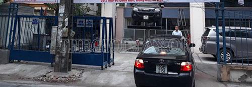 Thi công tiệm rửa xe của anh Tuấn ở Hà Nội