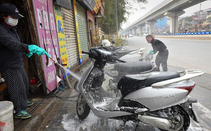 Chất lượng vệ sinh tăng cao nhờ sự hỗ trợ của máy rửa xe cao áp