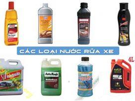 Nên rửa xe với nước rửa xe chuyên dụng nào