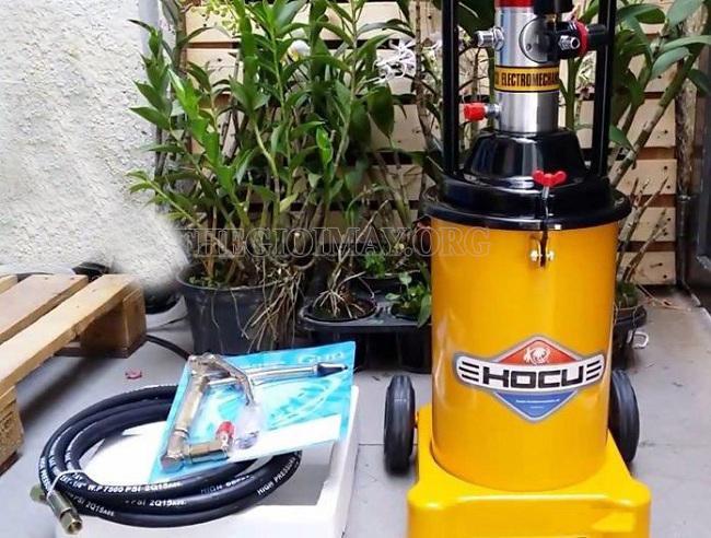 Hưỡng dẫn sử dụng máy bơm mỡ khí nén