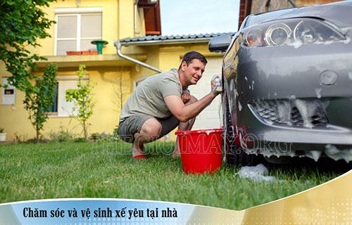 Tự rửa xe tại nhà