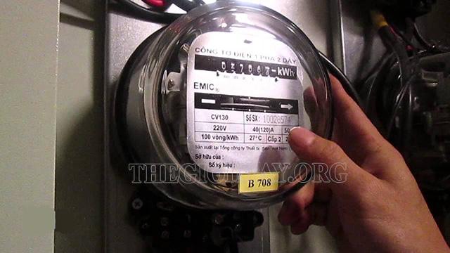 Cách xem công tơ điện