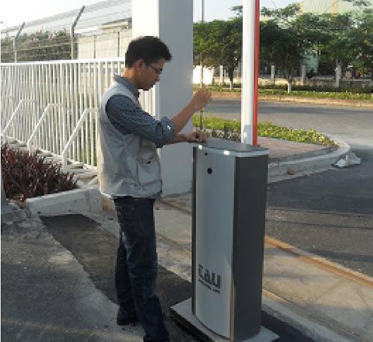 Lắp đặt thanh chắn barrier