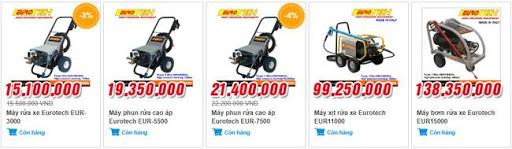 Top 3 máy rửa xe Eurotech đang bán chạy nhất tại thị trường