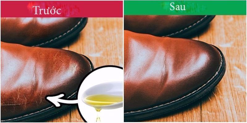 Khắc phục tình trạng da giày bị xước với dầu olive