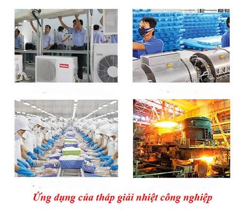 ứng dụng của tháp giải nhiệt trong công nghiệp