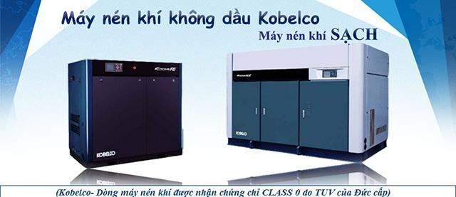 Máy bơm hơi Kobelco không dầu có khí nén đảm bảo chất lượng