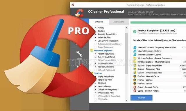 phần mềm Ccleaner
