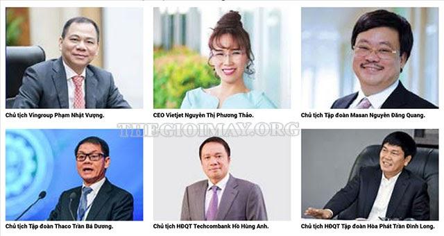 top 6 người giàu nhất VN